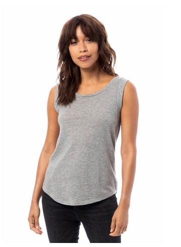 Alternative Cap Sleeve Satin Jersey Crew T-Shirt - 04013C1