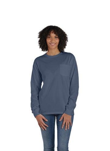 ComfortWash Long Sleeve Pocket T-Shirt - GDH250