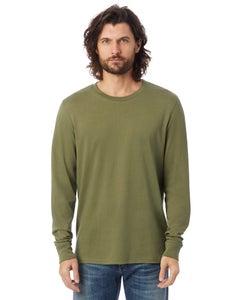 Alternative Outsider Long-Sleeve Heavy Wash Jersey T-Shirt - 01011CG