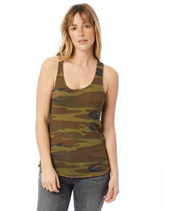 Alternative Meegs Printed Racerback Eco-Jersey Tank Top - 01927EA