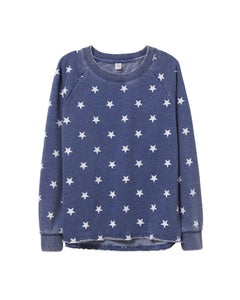 Alternative Lazy Day Printed Burnout French Terry Pullover Sweatshirt - 08626FJ