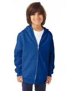 Hanes Youth EcoSmart® Full-Zip Fleece Hoodie - P480